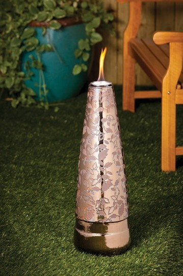 Floral Print Fireside Indoor/Outdoor Torch by Garden Party: In Full Bloom on @HauteLook