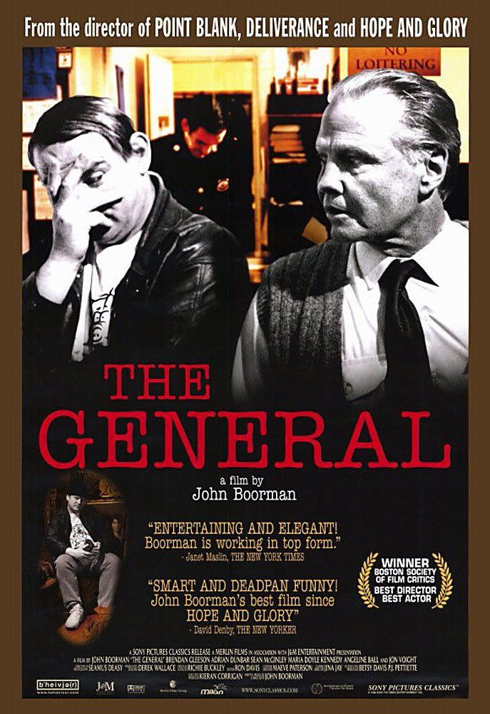 The General (1998) - Shot in colour but printed in black and white, and inspired by the life of Martin Cahill, the film sees Boorman for the first time depicting contemporary Ireland. Awarded the Best Director prize by the Cannes jury presided over by Martin Scorsese, the film – like its main actor, the astonishing, Cagney-esque Brendan Gleeson – has a biting humour, a plebeian truculence and a compulsive energy. Cahill, a modern gangster, is both a seducer and a scoundrel.