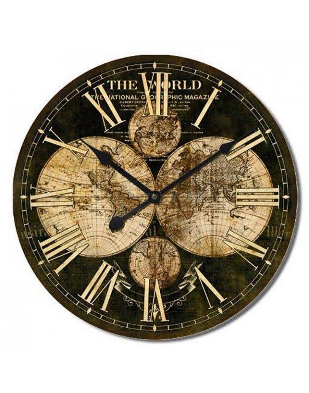 "Wall Clock ""Globe"" 60 CM"