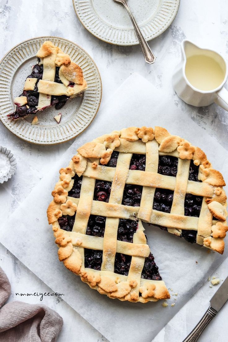 Blueberry Pie (vegan & refined sugar free) | nm_meiyee