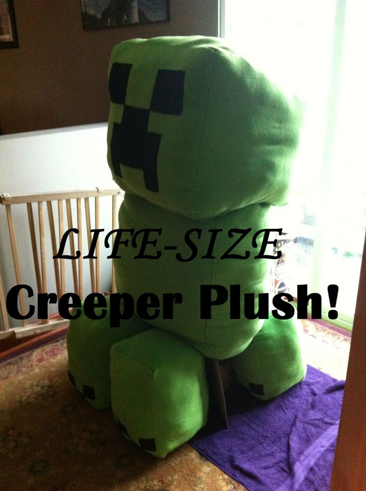 "LIFE-SIZE MINECRAFT CREEPER Plush!! Approx. 65""-75"" when completed. CUSTOM ORDERS CURRENTLY ACCEPTED. Project takes 4 months to complete. $400.00 + $199.99 shipping anywhere in USA! These can be custom made in just about any colors you'd like!! :D"