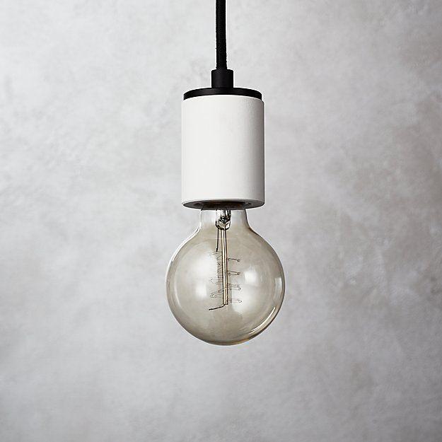 White Cylinder Pendant Light With Images Cylinder Pendant