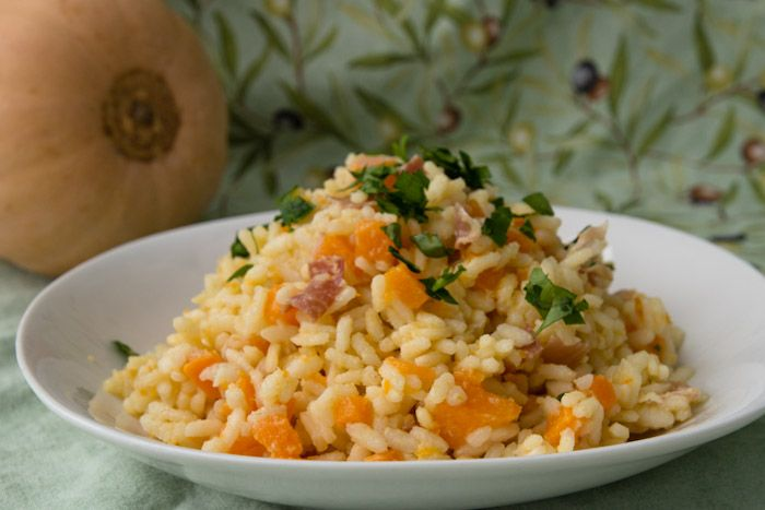 Pumpkin and Speck Risotto