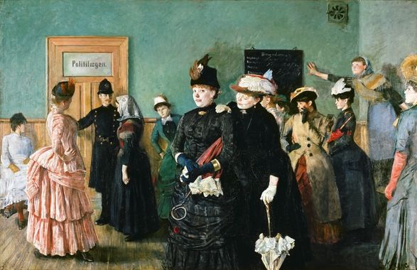 DigitaltMuseum - Albertine i politilegens venteværelse