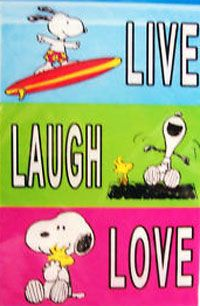Live Laugh Love Snoopy Flag 28x40