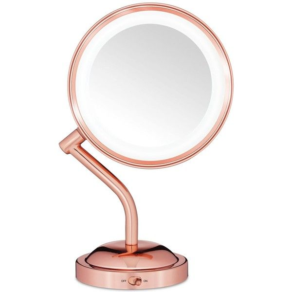 Conair Reflection Rose Gold Light Mirror (1.145 UYU) ❤ liked on Polyvore featuring home, home decor, mirrors, rose mirror, rose home decor, conair, rose gold home accessories and conair mirror