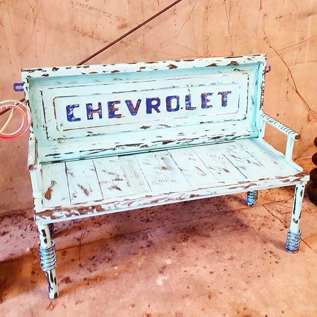 WEBSTA @ recycledsalvagedesign - Old Chevrolet truck tailgate bench by Raymond Guest artist Recycled Salvage Design www.recycledsalvage.com #garden #artsy #instaart #beautiful #instagood #bestoftheday #instadaily #photooftheday #instaartist #gardenart #gardenartist #raymondguest #recycledsalvagedesign #outsiderart #outdoorart #gardenideas #gardenartideas #gardenartideas #yard # #yardart #gardenartideas #recycledsalvage #raymondguestartist #scrapmetalart ##scrapmetalartist #metalart…