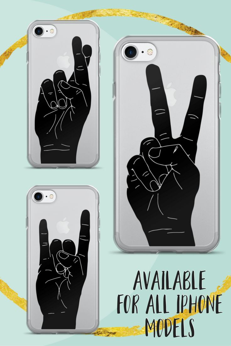 Peace Sign Hand | iPhone Case | Quote Phone Case | Transparent iPhone Case | Minimalist | Inspirational Art | iPhone 7 | Black | iPhone 6