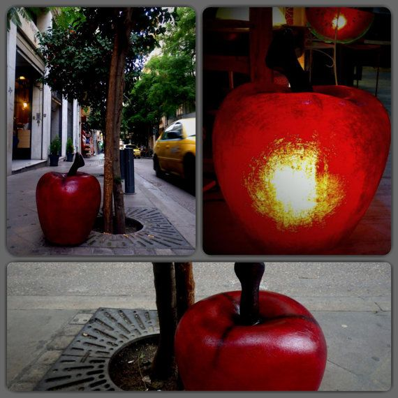 Apples Red or Green fiberglass lamps by GshopAthens on Etsy