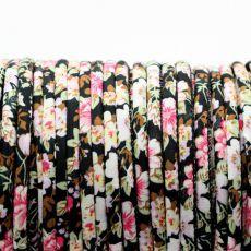 Sznurek bawełniany MASAJKA floral 6,5mm [1metr]