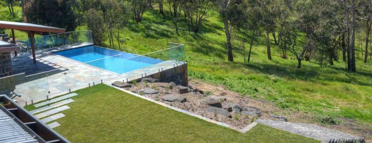 Image result for pool ideas for sloping block on a budget for Pool design website
