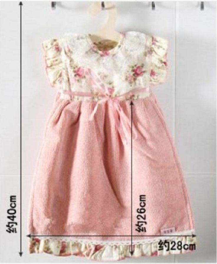 Amazon.co.jp: 飾れる ドレス タオル 襟 レース ハンガー タオル (小花 ピンク): ホーム&キッチン