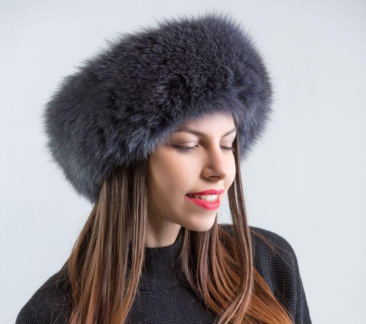 Grey Fox Fur Headband     #grey #fur #headband #fox #fur #winter #hat #haute #style #fur #fashion