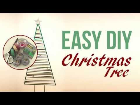 Easy DIY Christmas Tree - No Space Required - School Mum