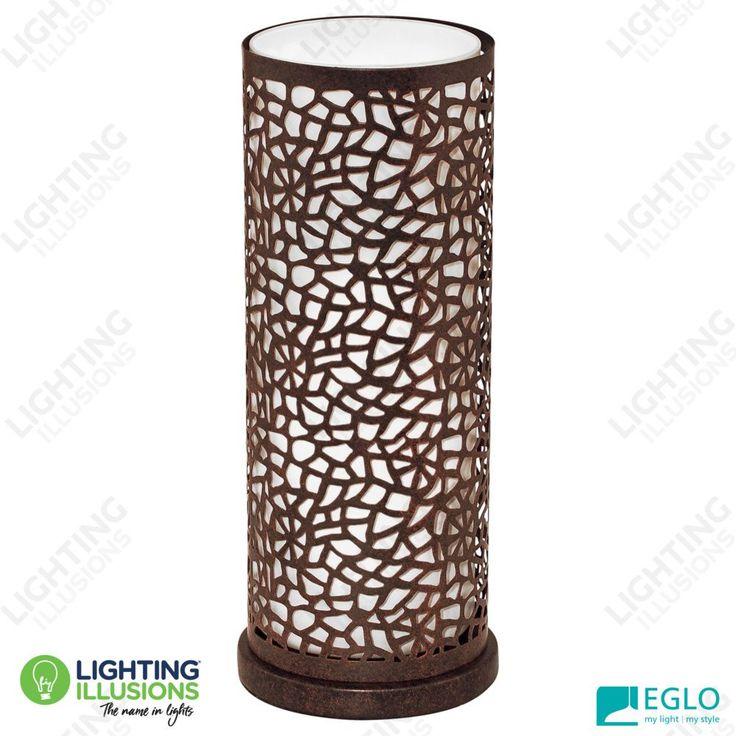 Eglo Almera Laser Cut Metal Design Antique Brown Table Lamp