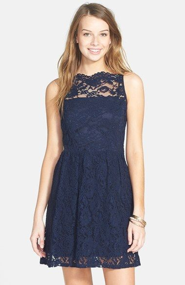 Free shipping and returns on Way-In Bow Back Lace Illusion Skater Dress at Nordstrom.com. Intricate lace overlays an always-sweet skater dress dotted by a line of pretty bows along the spine.