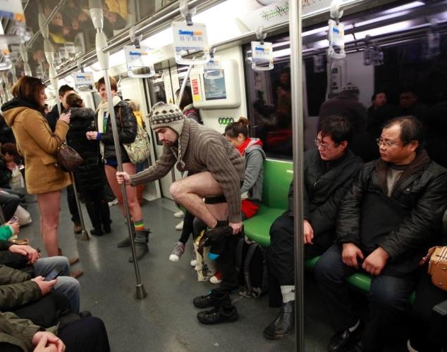 #Berlin #ImproveEverywhere #London #MexicoCity  #NewYork #NewYorkCity #Publictransport #subway #train  #Sweden #nopants #underwear #green #china #taiwan #population