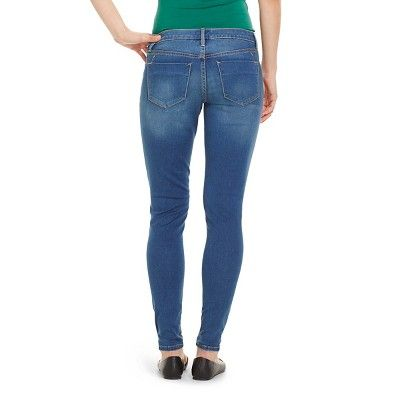 Women's Mid-rise Jeans Leggings (Modern Fit) - Mossimo Medium Wash 10 Long, Medium Denim