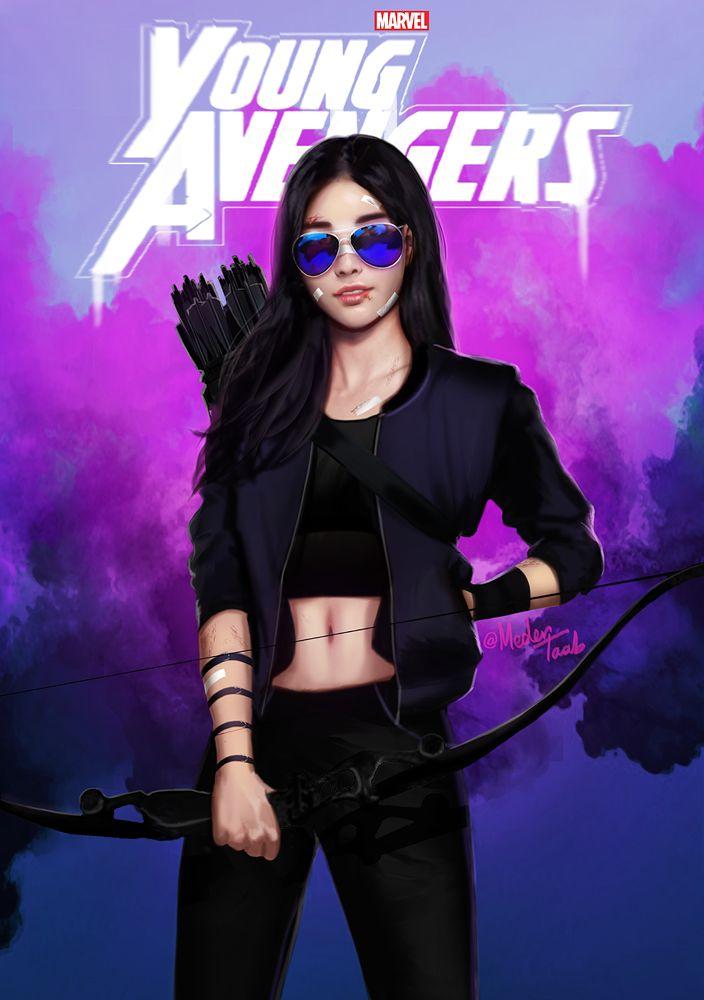 """There are new kids on the block"" Young Avengers Netflix mini-series. Kate Bishop, aka Hawkeye"