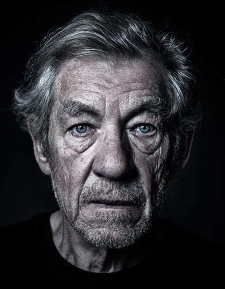 Sir Ian Murray McKellen, photographed by Andy Gotts. Gandalf and Magneto
