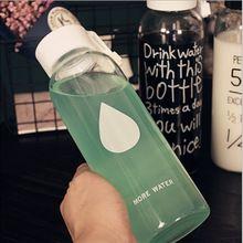 500 ML De Vidro Coreano Marcas de Água Engarrafada Garrafa de Água de Esportes Copo Do Curso Bonito Portátil Drinkfles Botellas de Deportivas Agua(China (Mainland))