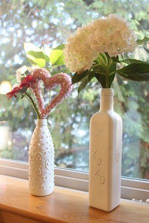 DIY From old glass bottles