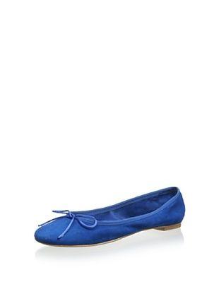 60% OFF Modern Fiction Women's Tie Ballerina In Suede (Electric Blue)