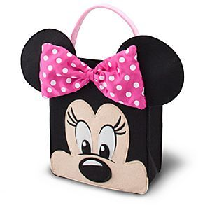 Disney Minnie Mouse Trick or Treat Bag - Pink | Disney StoreMinnie Mouse Trick or Treat Bag - Pink - She'll be the coolest cutie on the block Halloween night carrying Minnie's sweet Trick or Treat Bag. Stitched from sturdy felt fabric and fully-lined to carry a clubhouse of candy, it's the perfect complement to our pink Minnie costume!
