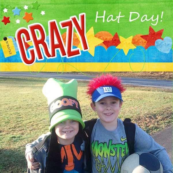 Crazy Hat Day Boys: Crazy Hats, Crazy Hat Day, Crazy School Day