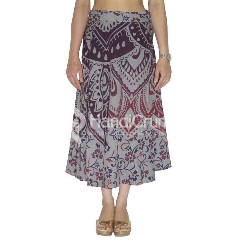 Cotton multicolor spring summer skirt for women