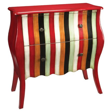 $510.95-I pinned this Carnival Chest from the Statement Pieces event at Joss and Main CHEST-2 DRAWER'S RED / IVORY / BLACK / ORANGE / SAGE. MEAS. 28W X 18D X 35H  SAVE FOR DIY FURNITURE IDEA'S I SEE SAGE / IVORY / ??????????? CHIC STYLE ***************************