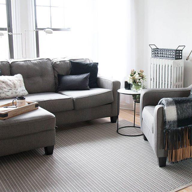 Shayla Sofa Chaise Dark Gray Living Room Inspo Chaise Sofa