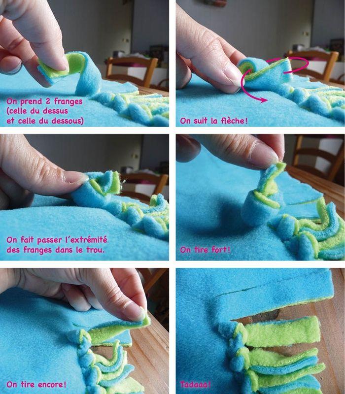 Tuto de couverture polaire pour bébé sans couture