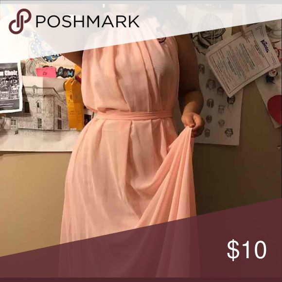 Pink salmon dress Size M it's pink and long Dresses Maxi