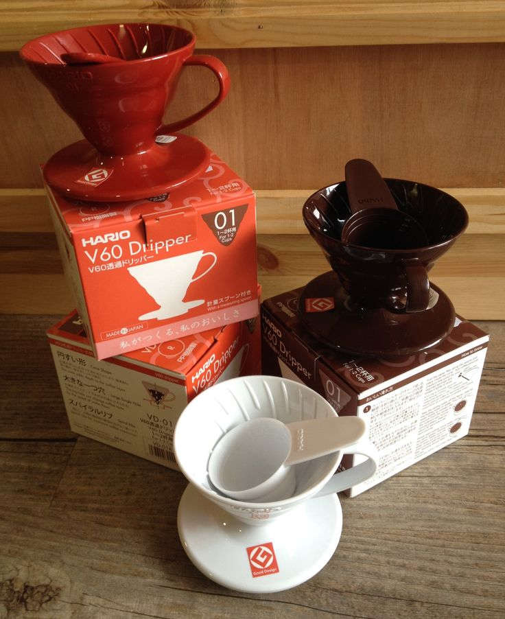 V60 #Hario 01 #Drippers in ceramic and plastic - ideal for 1 or 2 cups of freshly brewed sediment-free #coffee