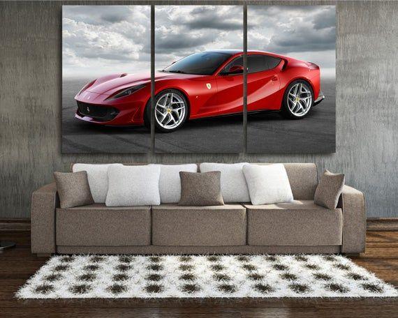 Ferrari Wall Art Ferrari Canvas Print Ferrari Canvas Art Etsy In 2020 Car Wall Art Canvas Prints Large Canvas Art