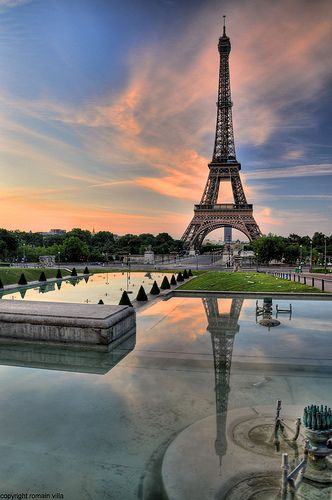 The Eiffel Tower, Paris - I climbed the bloody stairs until you are forced to switch to the elevator for the rest!