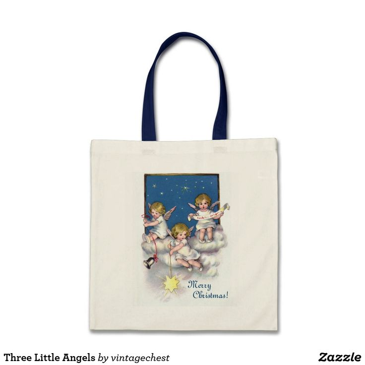 Three Little Angels Tote Bag