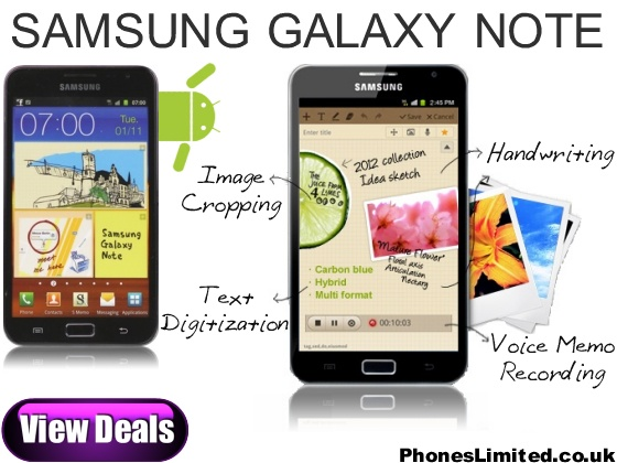 Samsung Galaxy Note http://www.phoneslimited.co.uk/Samsung/Galaxy+Note