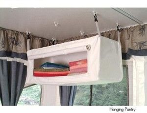 POP UP / TENT CAMPER HANGING PANTRY. I want this.
