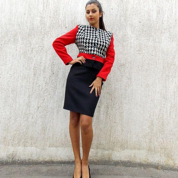 ジャケット英国企画スーツ/タータン トップ ドレス スーツ生地鉛筆をダイヤモンド/ドレス/ビジネスの服装 by Donastyle