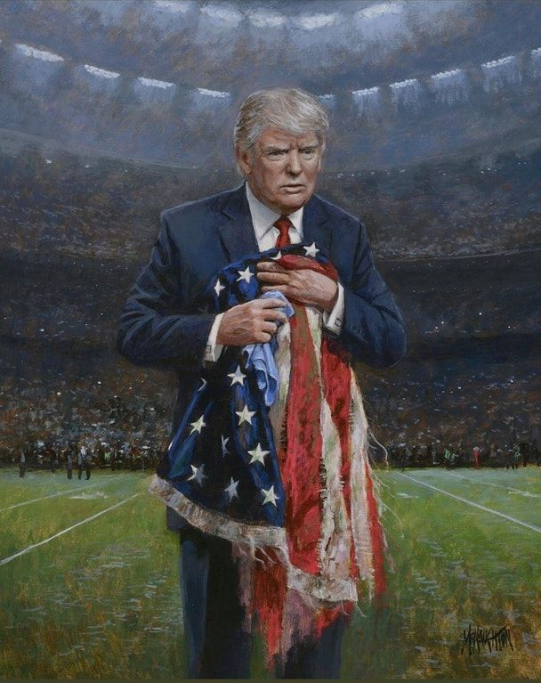 Jon McNaughton's Newest Painting-Respect The Flag : greatawakening