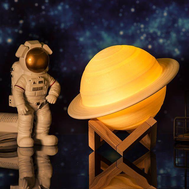 2019 Neue Dropship Wiederaufladbare 3d Druck Saturn Lampe Wie Mond Lampe Nacht Licht Fur Mond Licht Mit 2 Farben 16 Farben R In 2020 Nachtlicht Mond Lampe Nachtleuchte