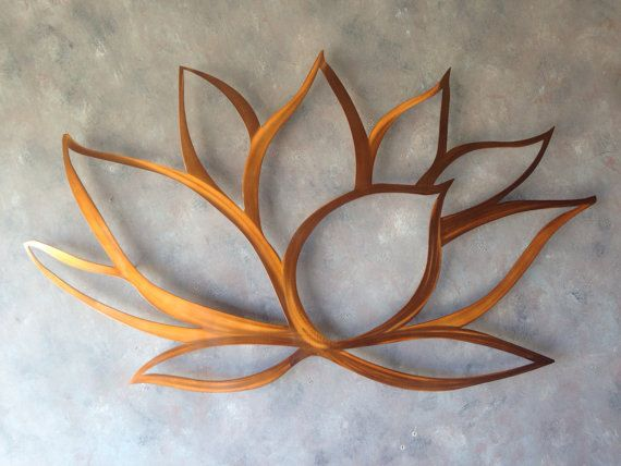 Lotus flower metal wall art lotus metal art home decor metal art wall - Decoration mural en metal ...