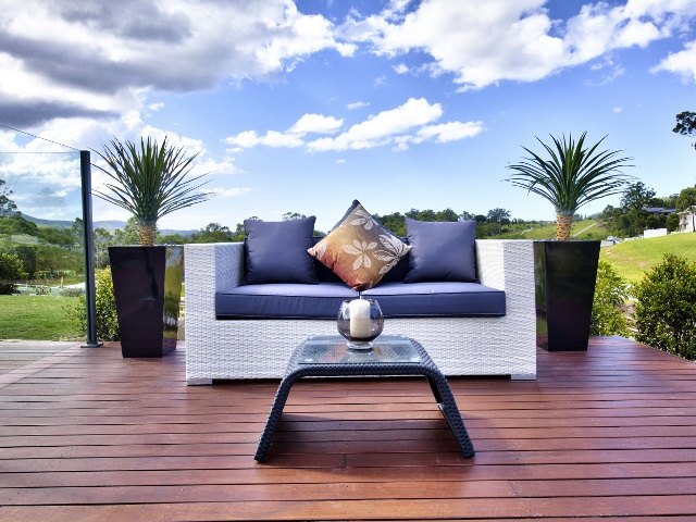 Beautiful outdoor setting against a stunning Gold Coast hinterland backdrop.