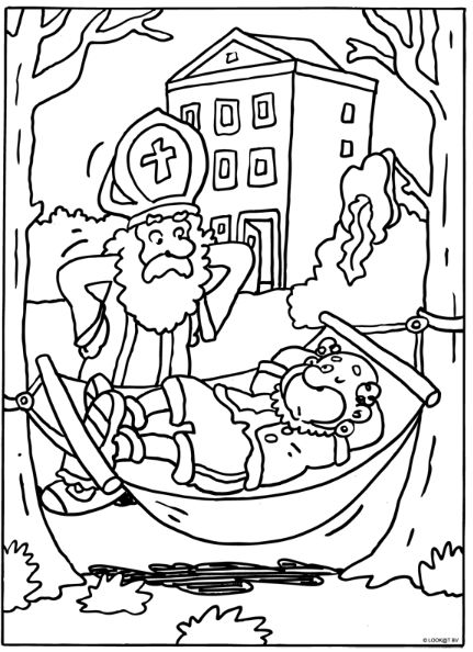 Piet in de hangmat