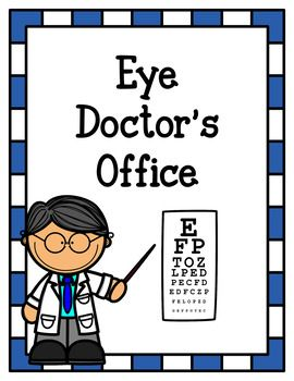 Let your little ones learn through playing with this fun eye doctor pretend play pack. Color and black and white versions both included.Included:-Eye Doctor's Office Signs-Appointment Pages (filled in and blank)-Telephone Message Pages-Vision Reports-Eye Charts-Hours Signs-Name Tags (Optometrist, Frame Shop Staff, and Customer)-Frame Shop Signs-Frame Order Forms-Glasses Craft/Prop Templates