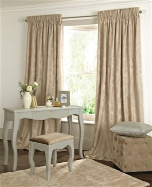 Buy Natural Damask Jacquard Pencil Pleat Curtains from the Next UK online shop