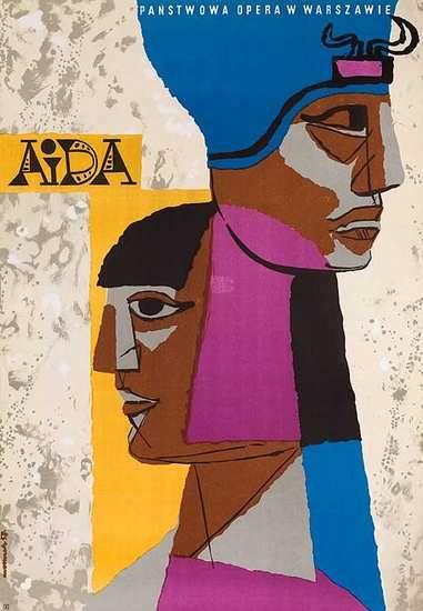 DP Vintage Posters - Original Aida Polish Opera Poster 1960s