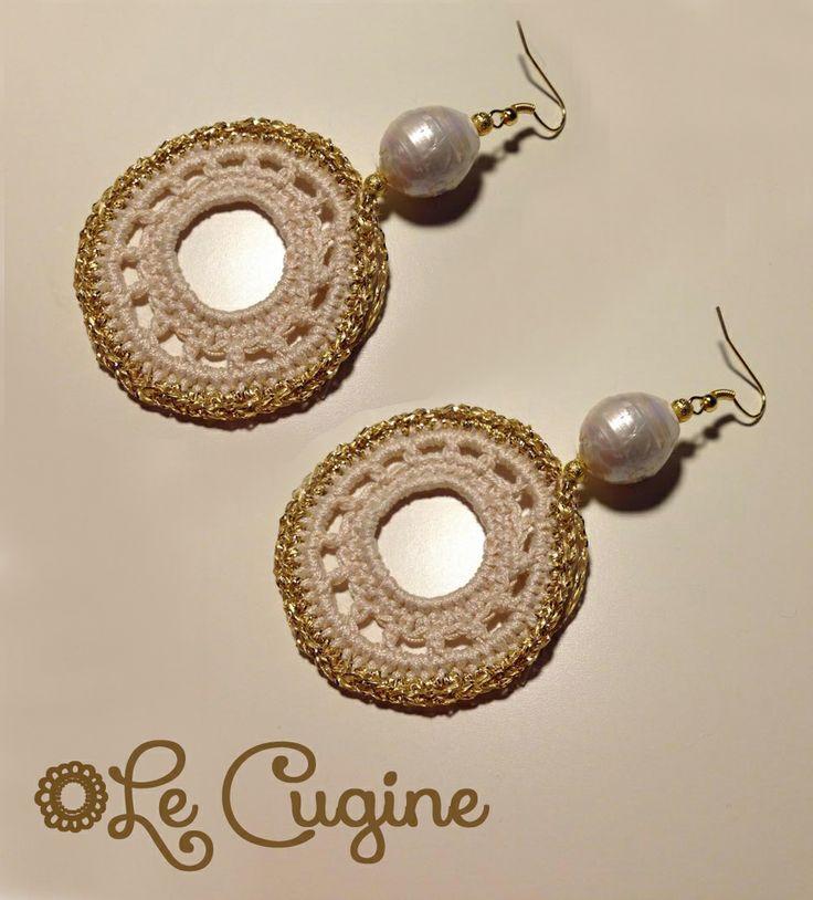 Lecugine#handmade #orecchini #uncinetto  #pietre#crochet